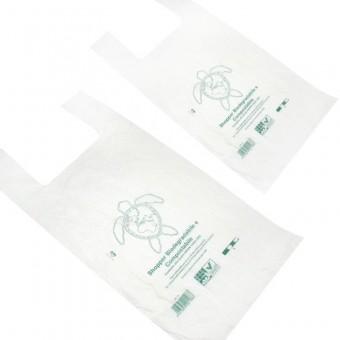Shopper Biodegradabili Compostabili UNI 13432 a Peso Kg.10