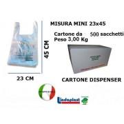 Shopper Biodegradabili Compostabili UNI 13432 Mini mis.23x44 pz. 500 gr.6