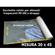 Buste in rotolo HD a strappo 14 my 30x45 cm